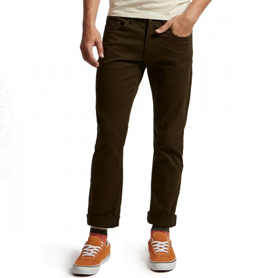 CCS Banks Straight Fit 5 Pocket Twill Pants - Dark Olive - 28 - 32