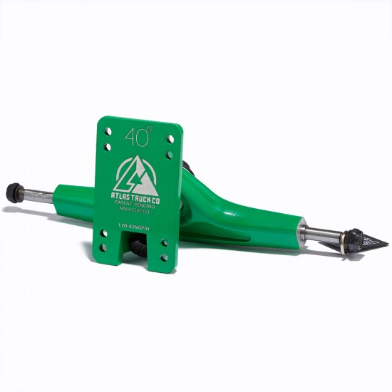 Atlas Truck Co. Longboard Trucks - 180mm 40 Degree - Green