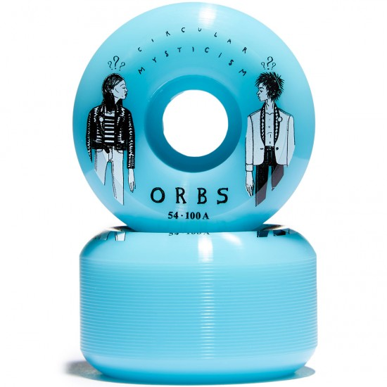 Welcome Orbs Fantasmas Skateboard Wheels - Blue - 54mm 100A