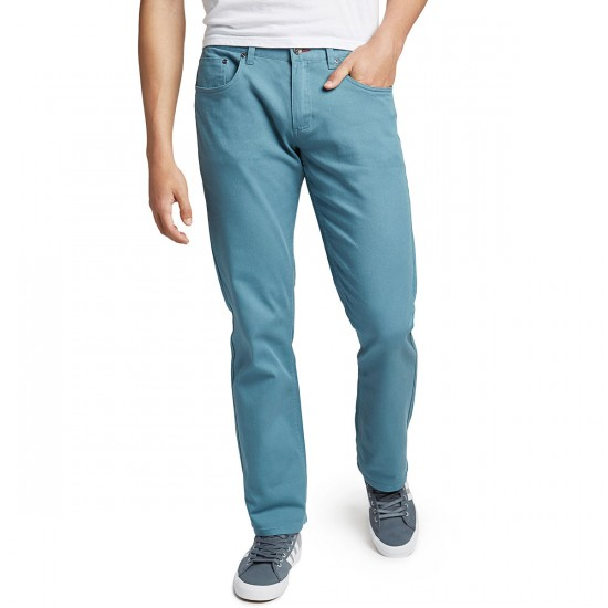 CCS Banks Straight Fit 5 Pocket Twill Pants - Iceberg - 40 - 32