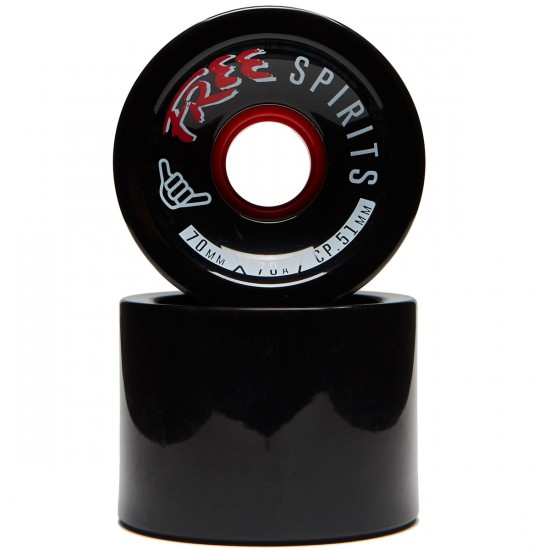 Free Spirits Longboard Wheels - 70mm 78a Black
