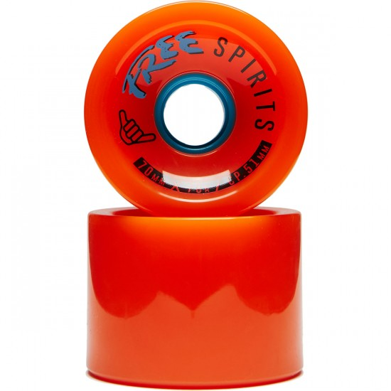 Free Spirits Longboard Wheels - 70mm 78a - Orange
