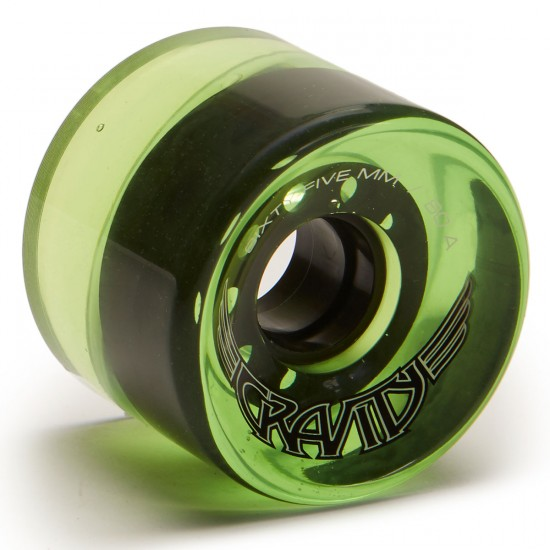 Gravity Wings Longboard Wheels - 65mm 80a - Trans Green