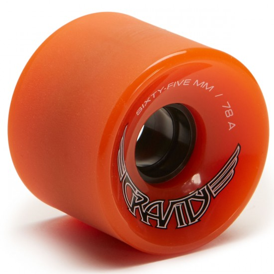 Gravity Wings Longboard Wheels - 65mm 78a - Orange