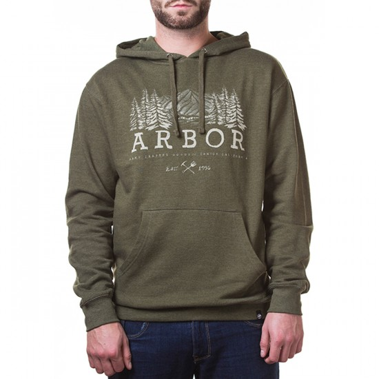Arbor Apparel Mountaineer Hoodie Sweatshirt - Military