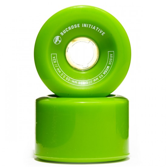 Arbor Mosh Longboard Wheels - 65mm 82a Green