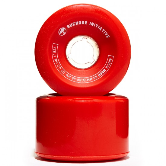 Arbor Mosh Longboard Wheels - 65mm 82a Red