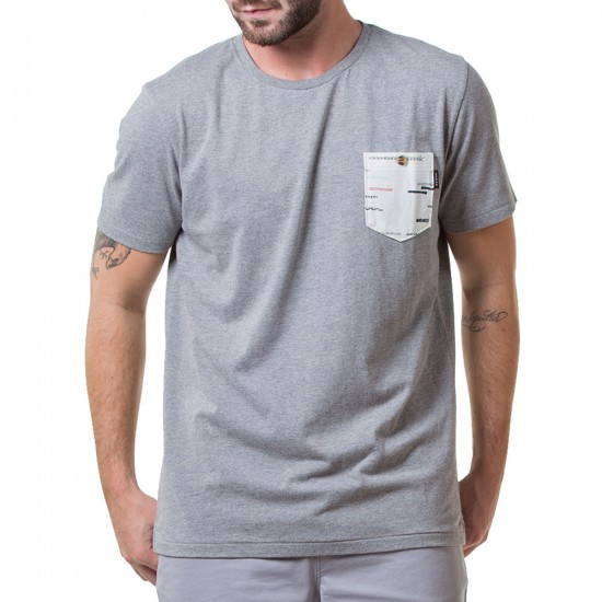 Arbor Stash Pocket T-Shirt - Charcoal