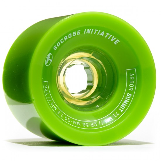Arbor Summit Longboard Wheels - 71mm 78a Green