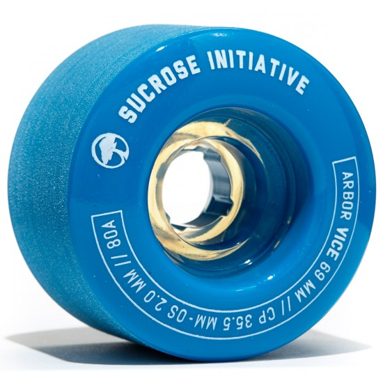 Arbor Vice Longboard Wheels - 69mm 80a Blue
