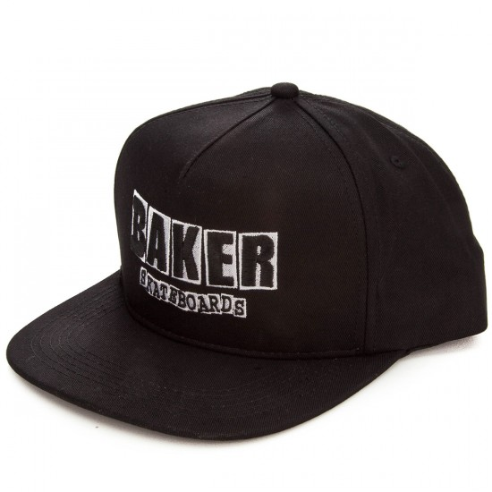Baker Skateboards Brand Logo Snapback Hat - Black/White