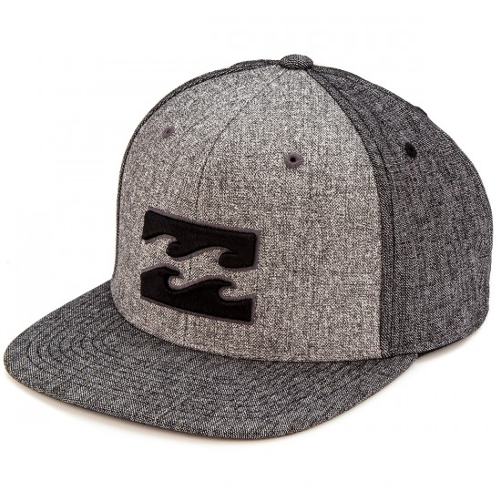 Billabong All Day Snapback Hat - Black Heather