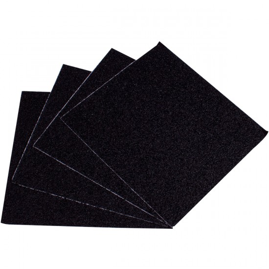 Blood Orange Heavy Duty Grit Griptape 4-Pack - Black