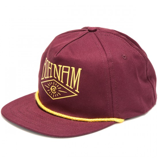 Bohnam Royale 5 Panel Lite Hat - Burgundy