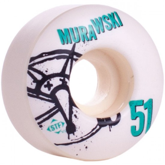 Bones STF Pro Marty Murawski Numbers Skateboard Wheels 51mm 83b - White