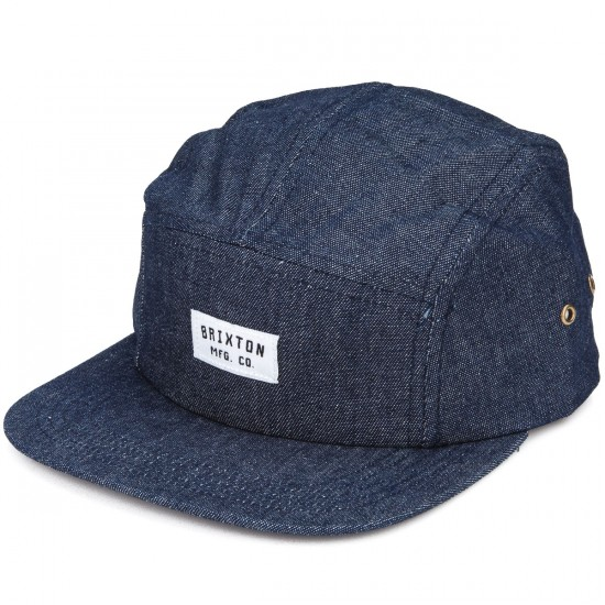 Brixton Hendrick Five Panel Cap Hat - Denim