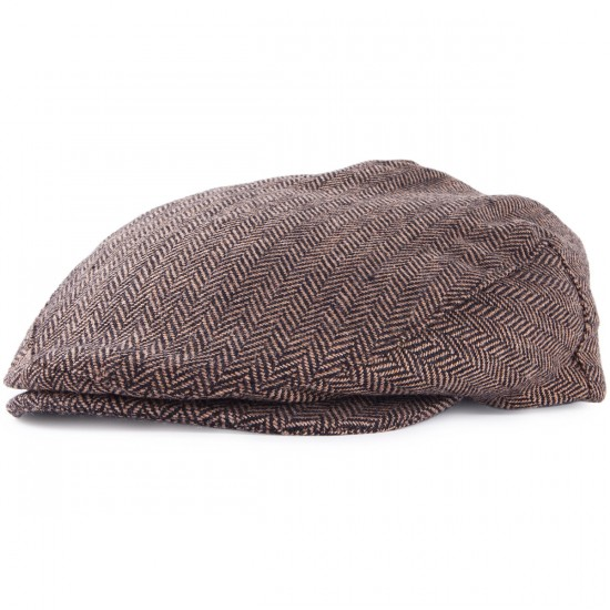 Brixton Hooligan Snap Cap Hat - Brown/Khaki
