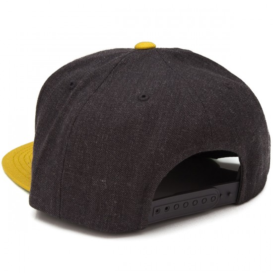 Brixton Oath III Snap Back Hat - Charcoal/Gold