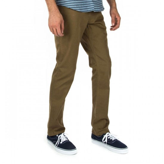 Brixton Reserve 5 Pocket Pants - Dark Khaki - 28 - 32