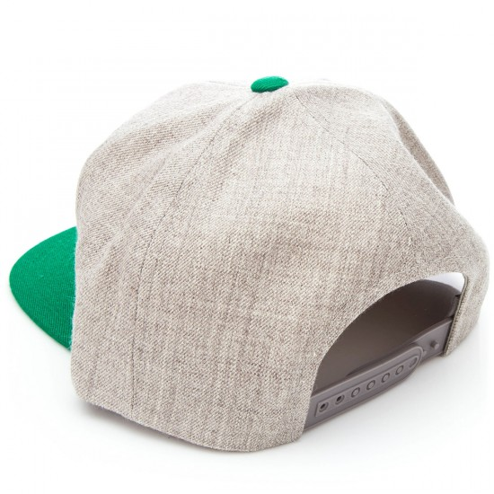 Brixton Rift Snap Back    Hat - Heather Grey/Green