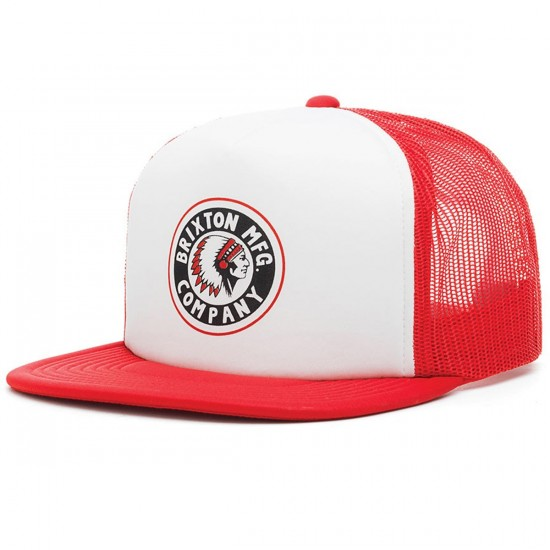Brixton Rival Mesh Hat - White/Red