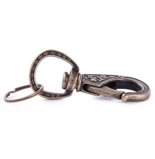 Brixton Scroll Key Clip - Antique Bronze
