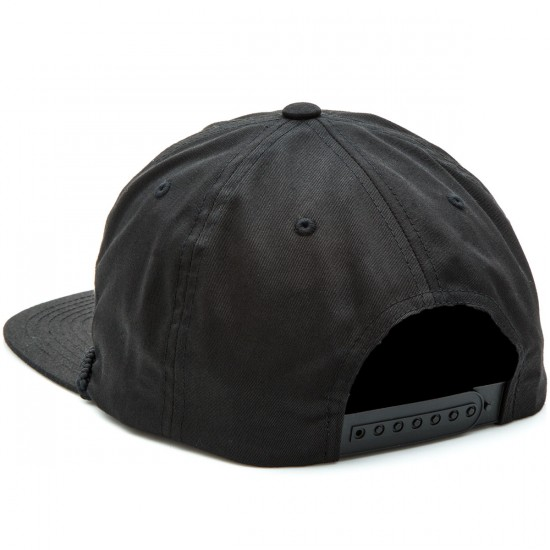 Brixton Tanka Snapback Hat - Washed Black