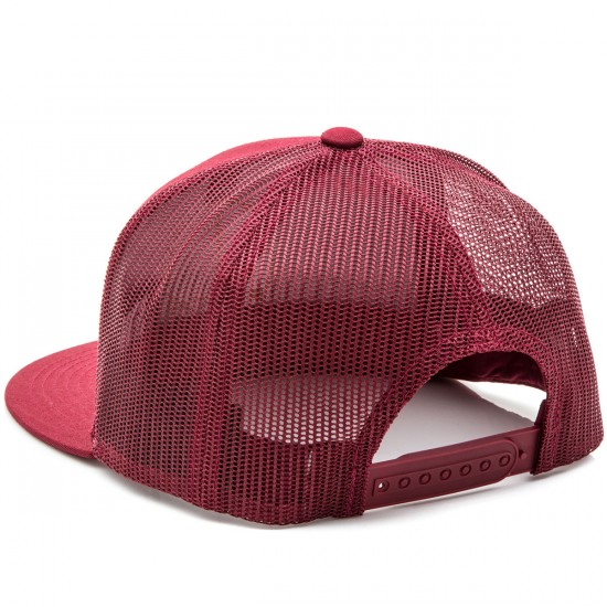 Brixton Wheeler Mesh Hat - Burgundy/Navy