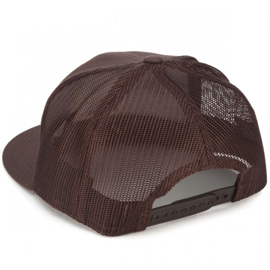 Brixton Wheeler Mesh Hat - Dark Brown