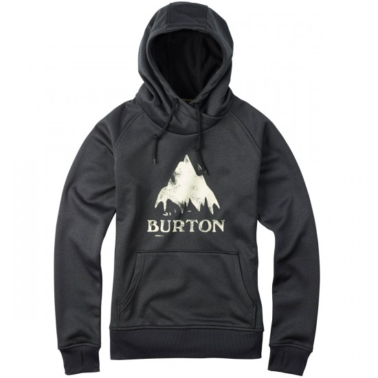 Burton Heron Pullover Hoodie - True Black Heather
