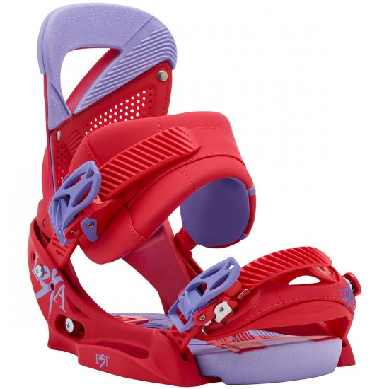 Burton Lexa Women's EST Snowboard Bindings 2015 - Crimson Scene Red