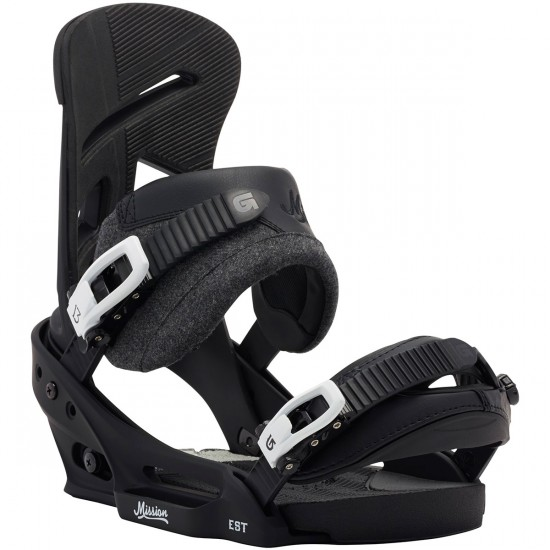 Burton Mission EST Snowboard Bindings 2015 - Black Wool