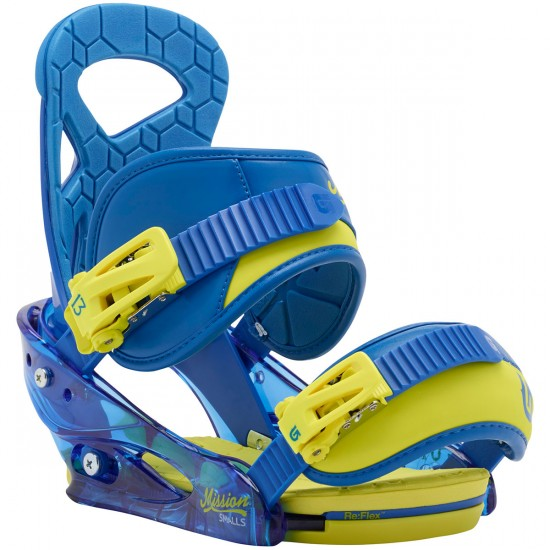 Burton Mission Smalls Youth Snowboard Bindings 2015 - Next Level Blue
