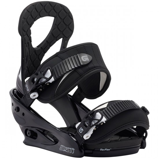 Burton Stiletto Women's Snowboard Bindings 2015 - Black / White