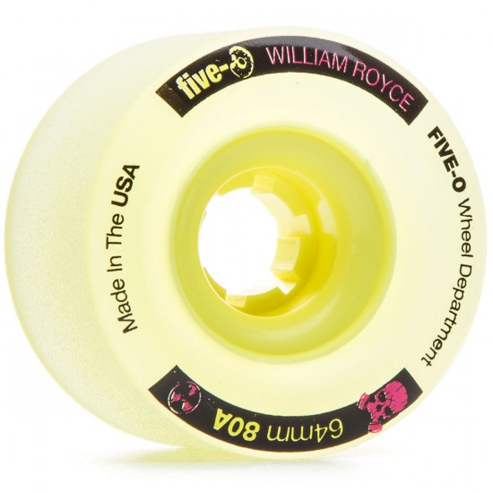 Bustin Five-O William Royce Pro Longboard Wheels - 64mm 80a Yellow