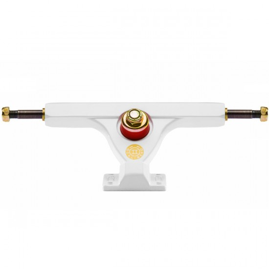 Caliber II Longboard Trucks - White / Gold 50 Degree