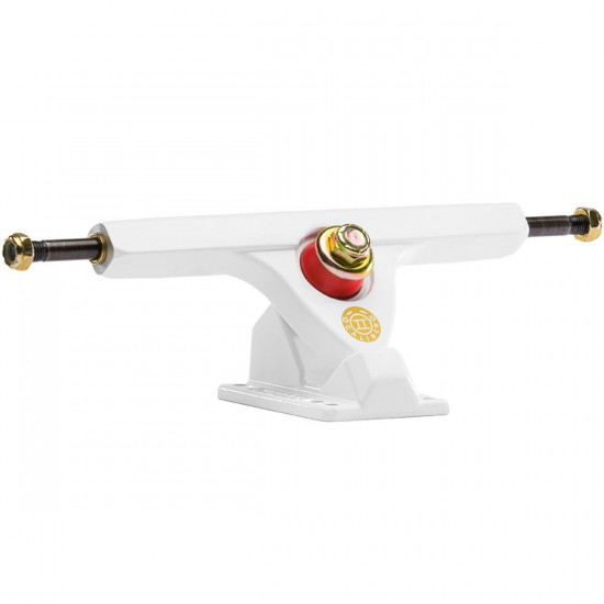 Caliber II Longboard Trucks - White/Gold 50 Degree - Blem