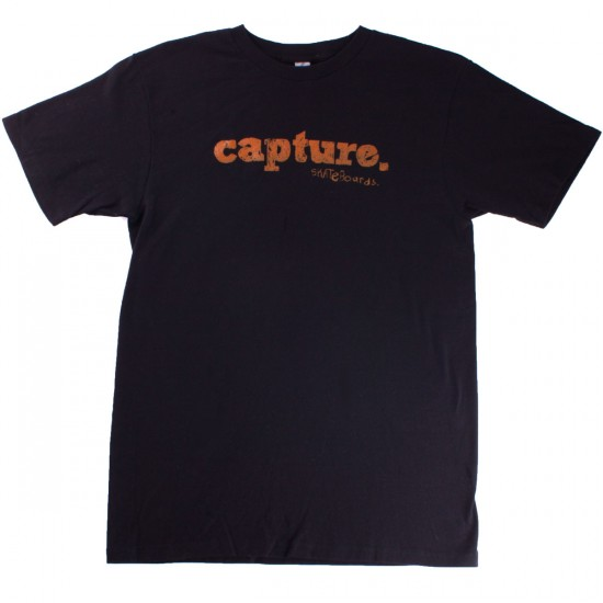 Capture Skateboards Logo T-Shirt - Black