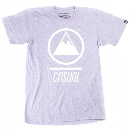 Casual Industrees MTN Logo T-Shirt - Heather Grey
