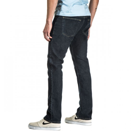 CCS Banks OG Slim Straight Jeans - Indigo Distressed - 32 - 28