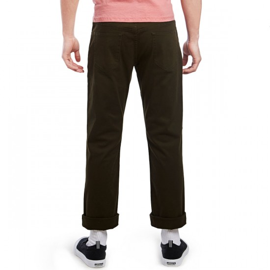 CCS Slim Fit 5 Pocket Twill Pants - Dark Olive