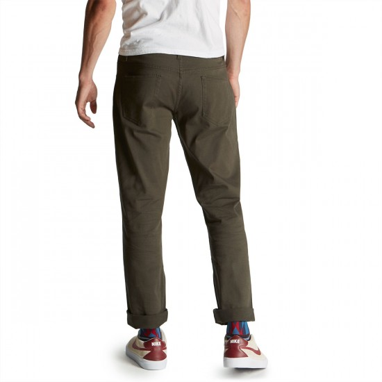 CCS Banks Straight Fit 5 Pocket Twill Pants - Carbon
