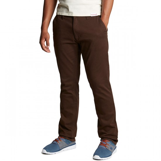 CCS Straight Fit Chino Pants - Chocolate