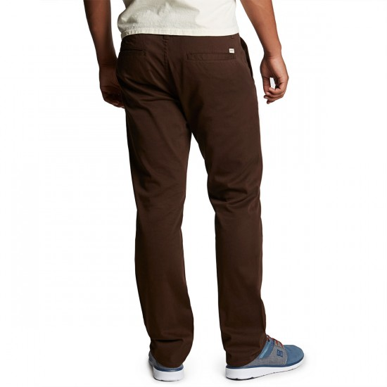 CCS Clipper Straight Fit Chino Pants - Chocolate