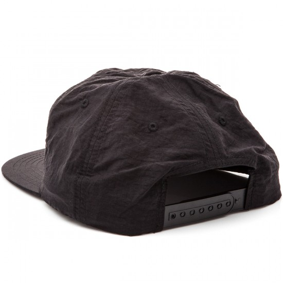 Chocolate Classic Nylon 5 Panel Snapback Hats - Black