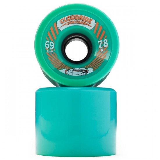 Cloud Ride Cruisers Longboard Wheels - Teal 69mm 78a - Blem