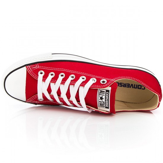 Converse Chuck Taylor All Star Lo Shoes - Red - 5.0