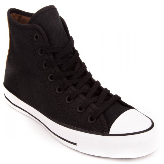 Converse CTAS Pro Canvas High Shoes - Black/Rubber/White - 10.0