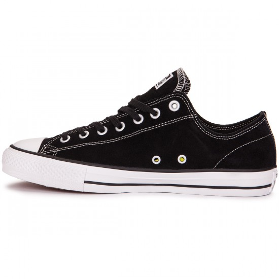 Converse CTAS Pro Shoes - Black Suede/White - 9.0