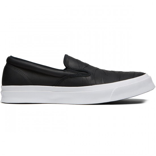 Converse Deckstar Pro Slip-On Jason Jessee Shoes - Black/Black/White - 7.0
